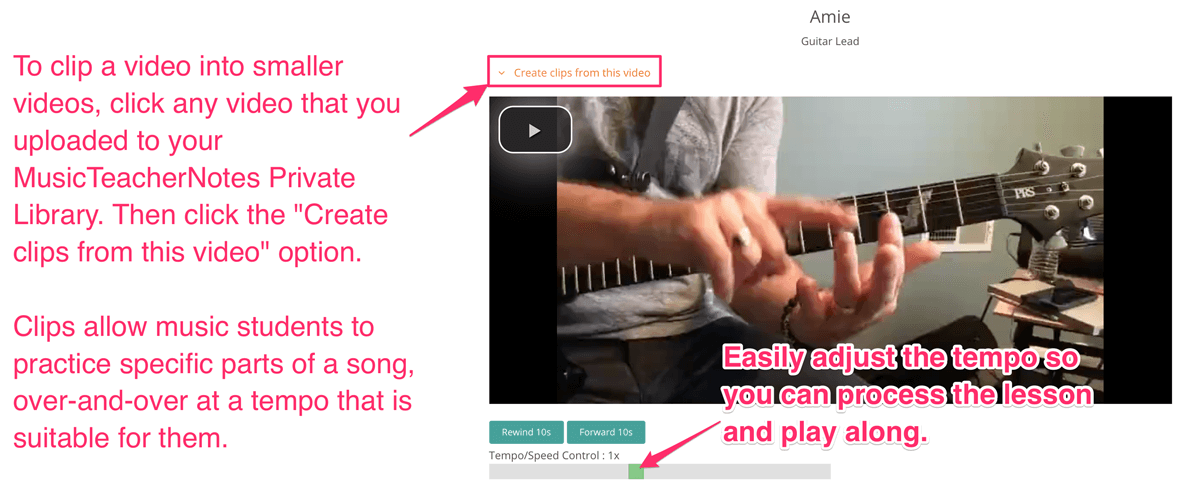 How to clip videos for private music lessons