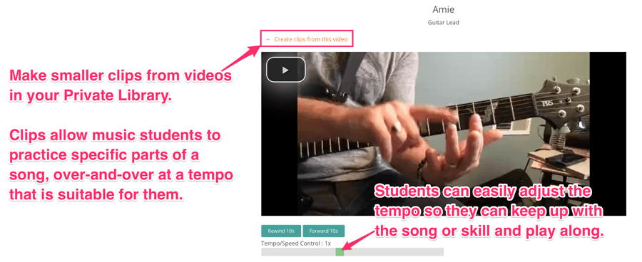Music lesson video ideas