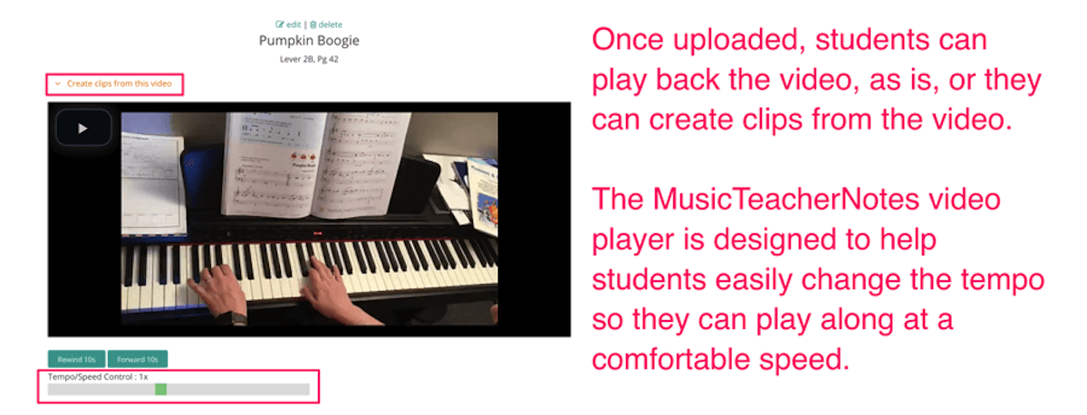 How video can improve learning music