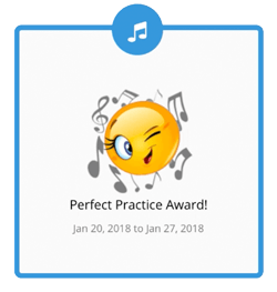 Perfect Practice Award for Music Lesson Practice